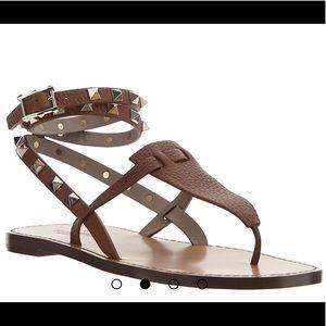 Valentino Double Strap Rockstud Sandal